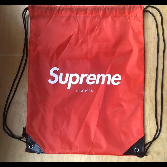 d22af3dedadab9 none Bags | Supreme Drawstring Backpack Custom Design | Poshmark